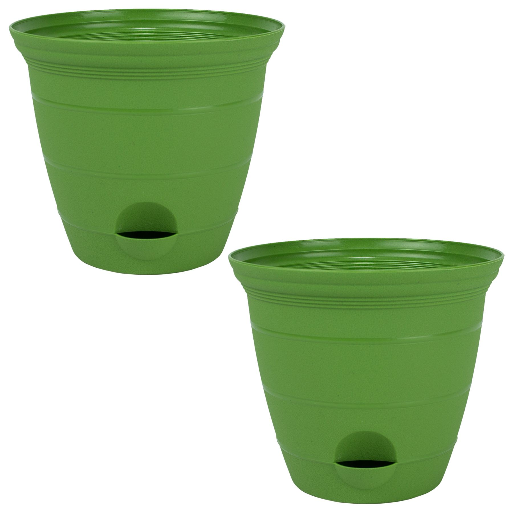 Misco 2 Pack 12 Inch Plastic Self Watering Terra Flower Plant Pot Garden Potted Planter Green In 2020 Planting Flowers Garden Pots Potted Plants