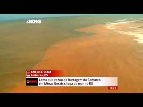 Lama chega ao mar