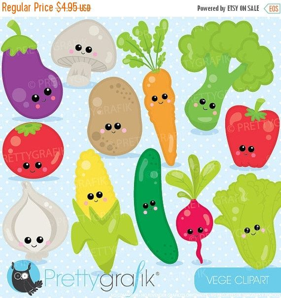 Comprar 20 Get 10 Off Caracteres Predisenadas Vegetales Clipart Uso Comercial Graficos Vectoriales Clip Art Digital Cl922 Verduras Dibujo