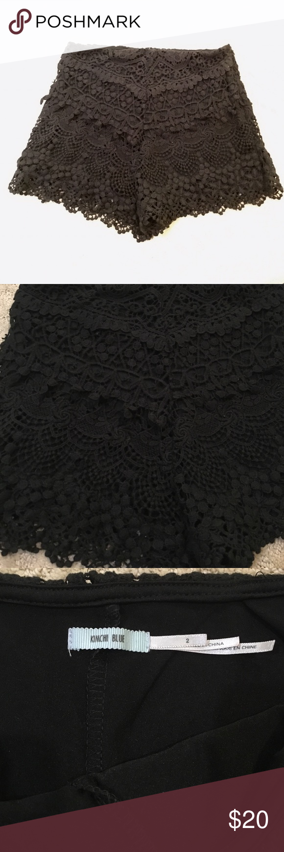 UO crochet shorts Tight fitting crochet shorts in great condition!! Urban Outfitters Shorts