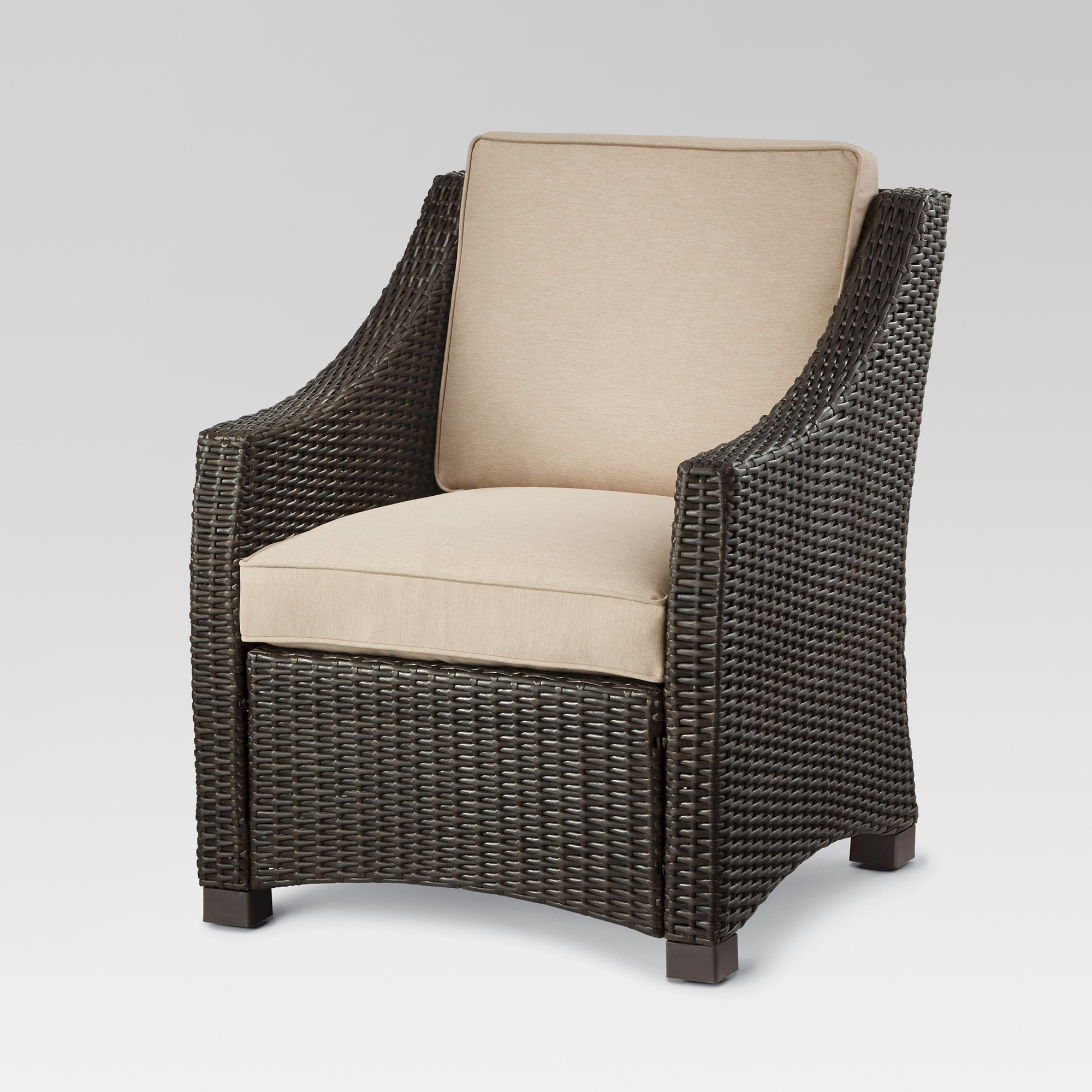 Belvedere Wicker Patio Club Chair Tan Threshold Target Patio