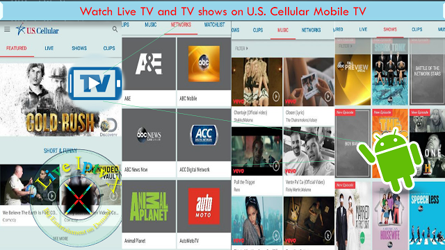 Watch Live TV and TV shows U.S. Cellular Mobile TV Apk