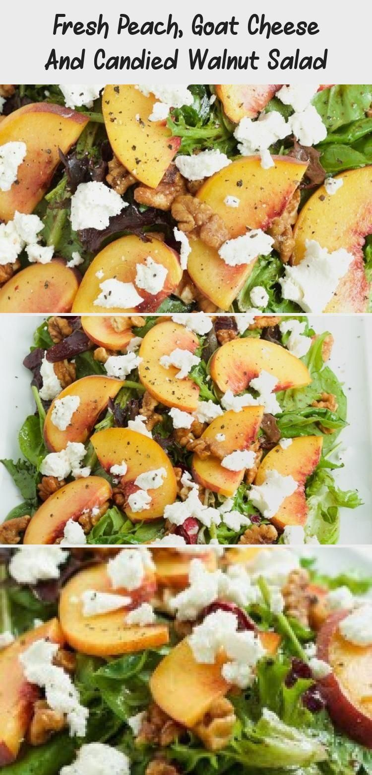 Goat Cheese Fresh Peach Salad with Candied Walnuts | These spring garden party r...  - Garden Party