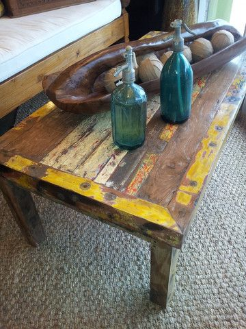 Balinese Boat Wood Coffee Table Jaya Furniture Recycled Wood Furniture Boat Furniture Coffee Table