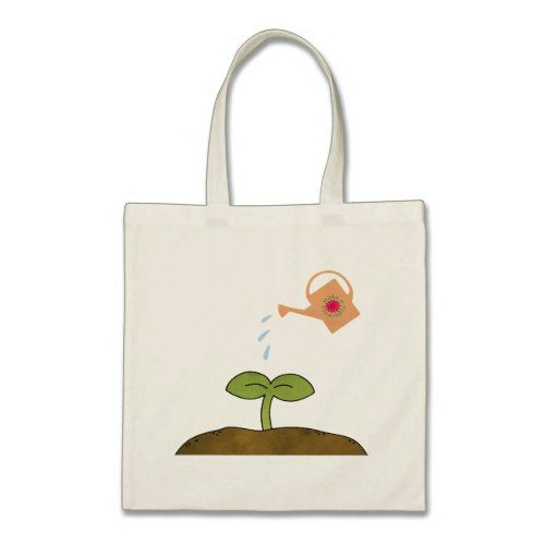 Eco Tote /'This Bag Planted One Tree/' Brushed Tree Design