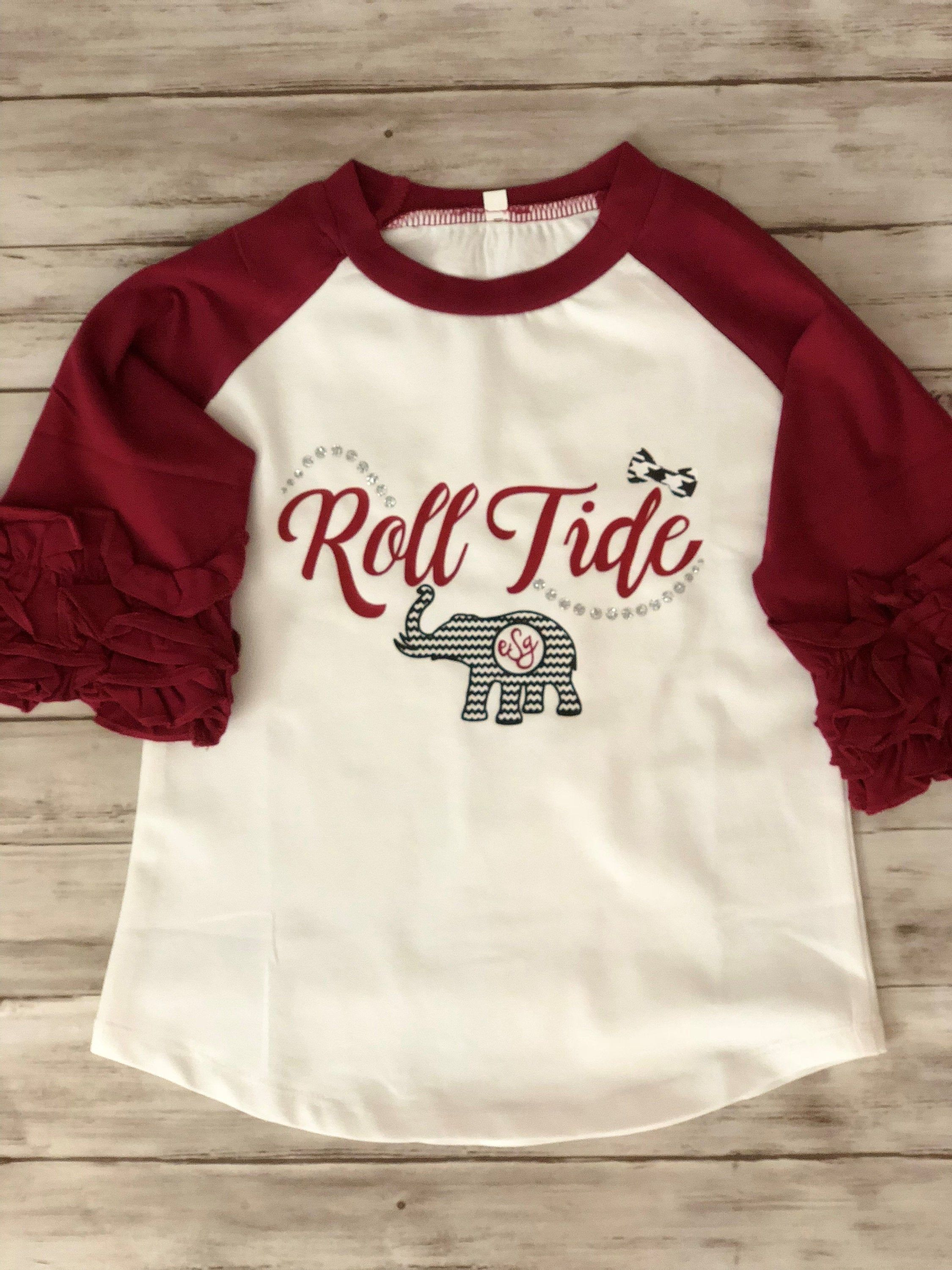 Alabama roll tide t shirt for girls youth or toddler