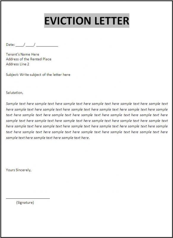Free Printable Eviction Notice Template template Pinterest