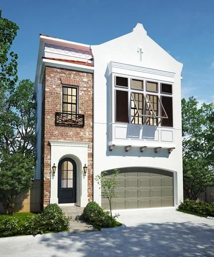Townhouse floor plan 3 car garage google search houses for Luxury townhome plans