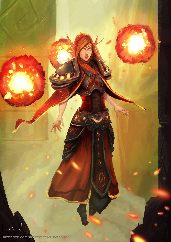 ArtStation - Fire Mage, Matheus Fernando | D & D | Fantasy ...