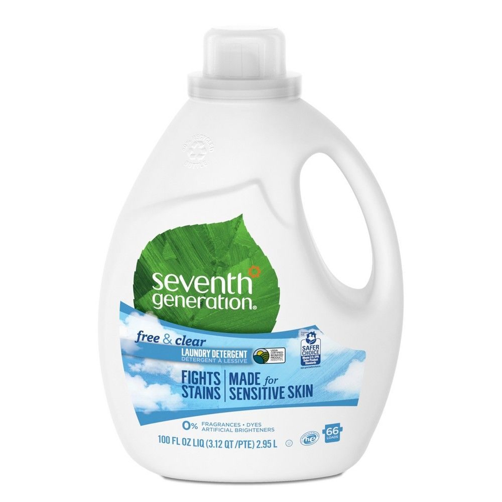 Seventh Generation Free Clear Natural Liquid Laundry Detergent 100oz Natural Laundry Detergent Natural Laundry Laundry Detergent