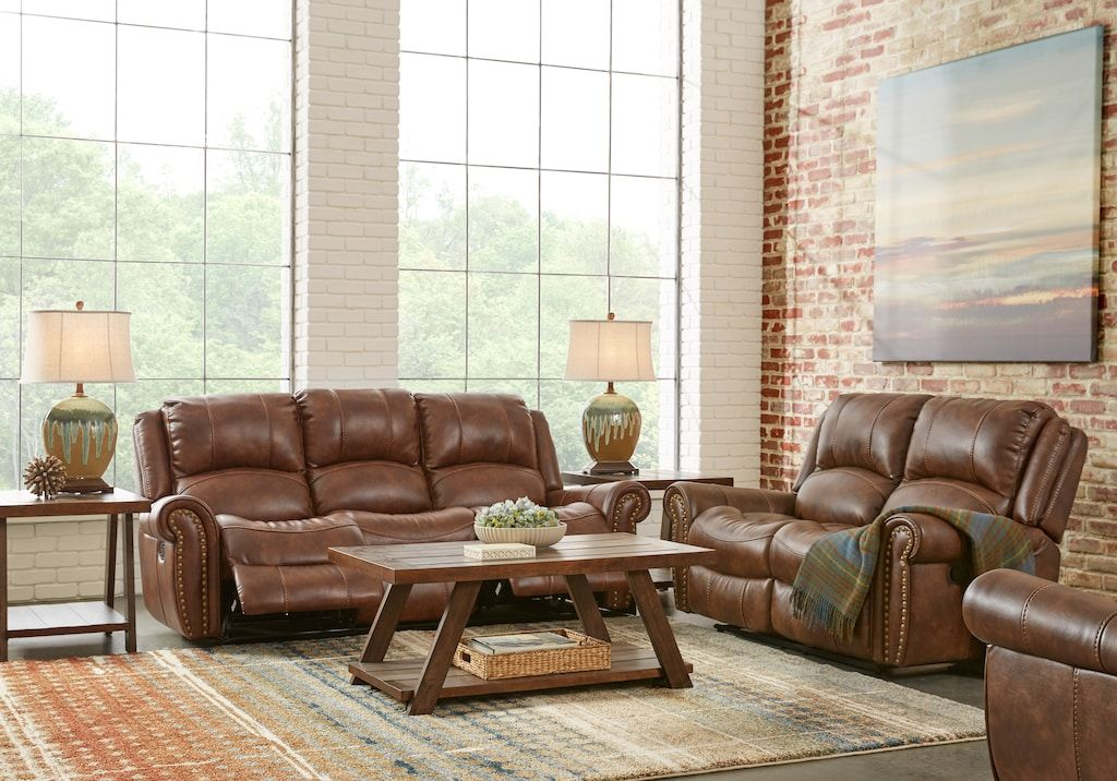 Alden Point Brown 2 Pc Living Room Reclining Living Rooms Brown