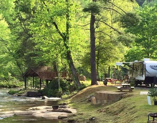 River Falls At The Gorge Rv Resort And Campground - Rv Park, River ...