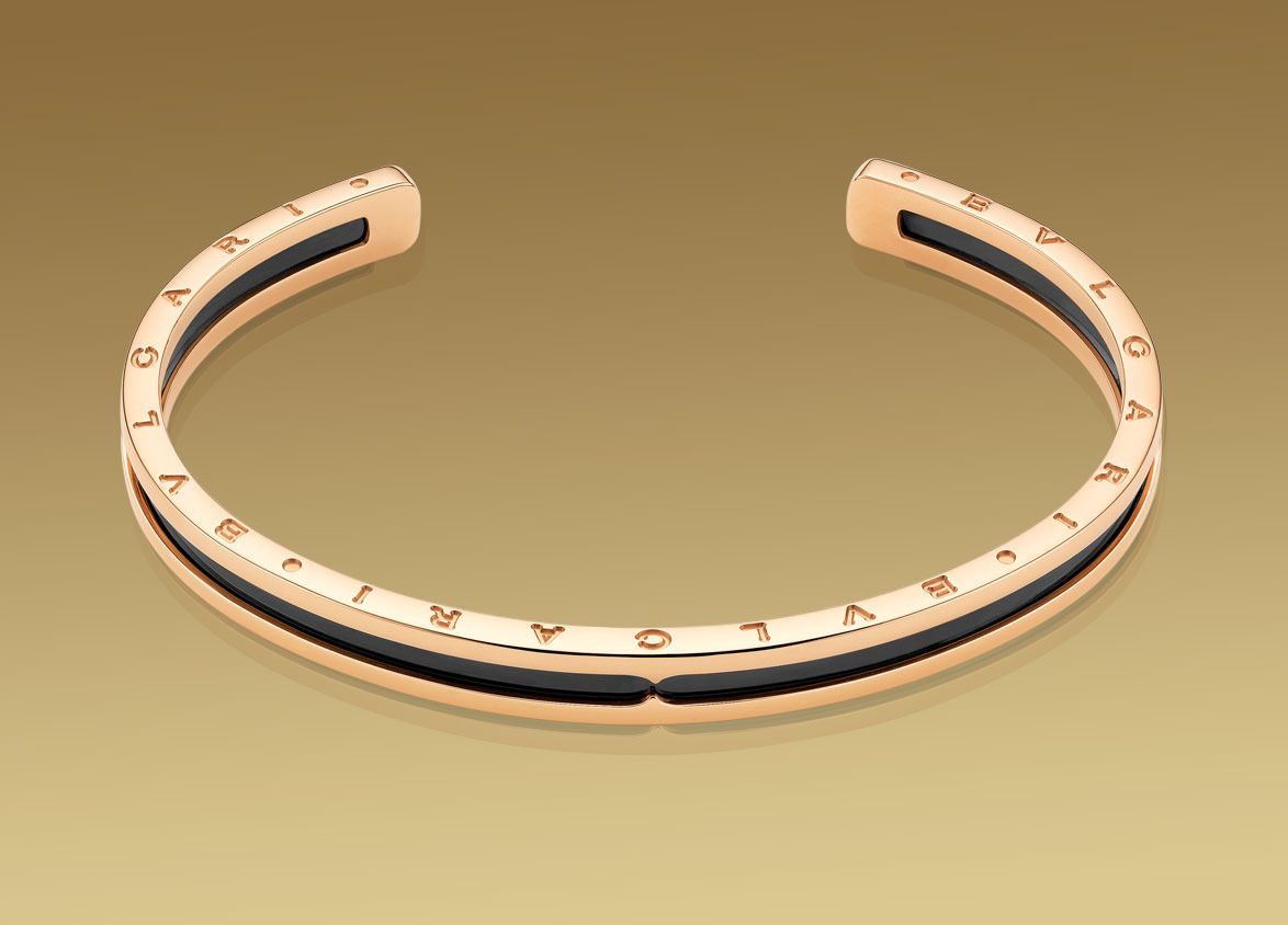 Gojee bzero gold and steelcuff bracelet by bulgari my