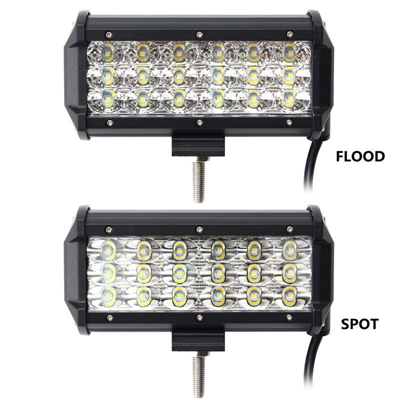 7 inch 90w led light bar flood and spot off road car truck 9 32v 7 inch 90w led light bar flood and spot off road car truck 9 32v aloadofball Image collections