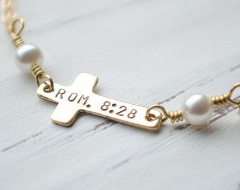 gold or gold bible verse bracelet cross bracelet faith