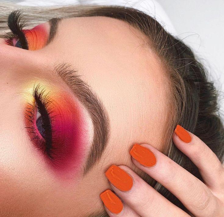 Photo of #cheesecake #caramel #yellow #orange #smokey #makeup #super #pink #glam #dip #and #eyeCaramel