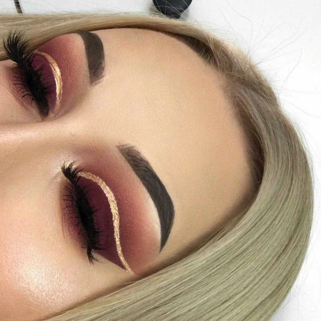 Brown gold and burgundy autumn makeup ideas to try