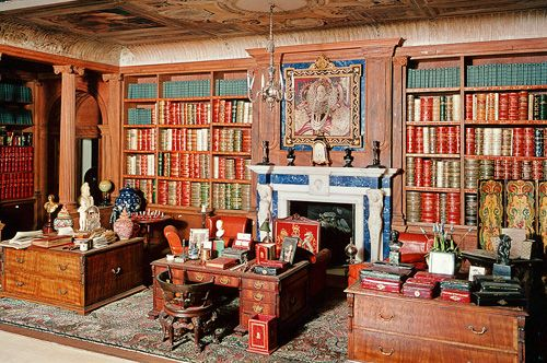 The Library In Queen Mary S Dollhouse At Windsor Castle England My