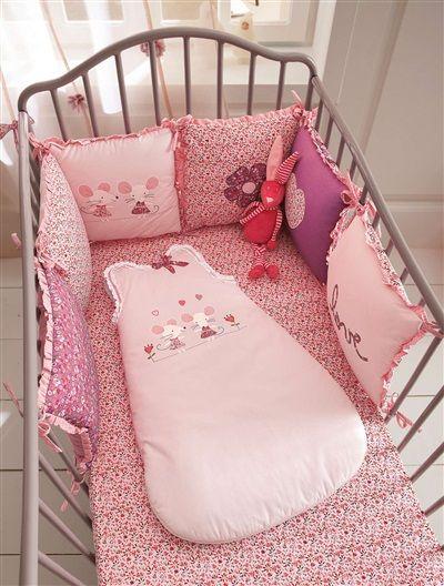 tour de lit bébé souris Tour de lit bébé modulable thème Baby souris ROSE   vertbaudet  tour de lit bébé souris