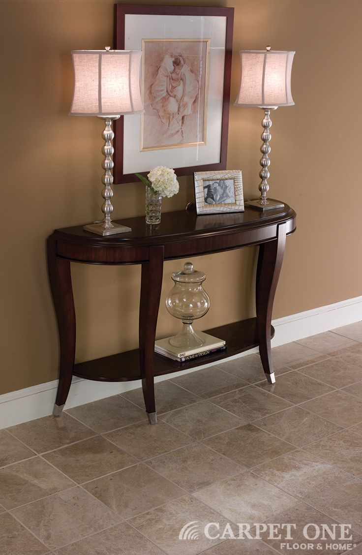 Tile Is Luxurious In An Entryway And Resists Dirt And