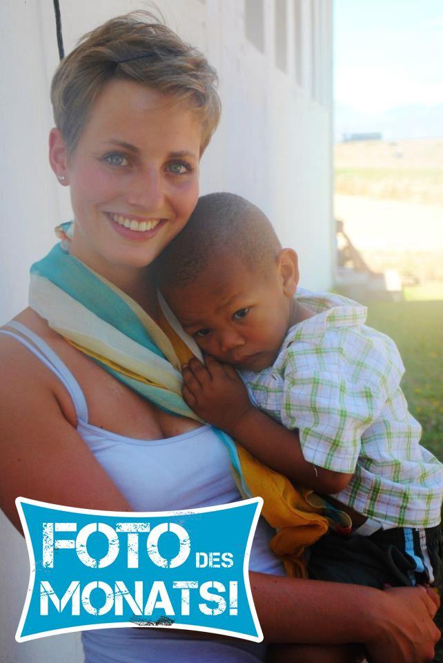 Foto des Monats Februar 2013! Joelle-Vivien bei ihrem #Freiwilligenprojekt in #Suedafrika