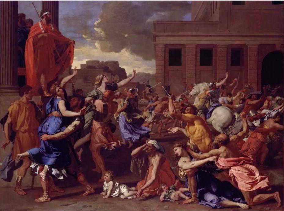 Nicolas Poussin El Rapto De Las Sabinas H 1633 1634 155 X 210 Cm Nueva York The Metropolitan Mus Nicolas Poussin Metropolitan Museum Of Art Baroque Art