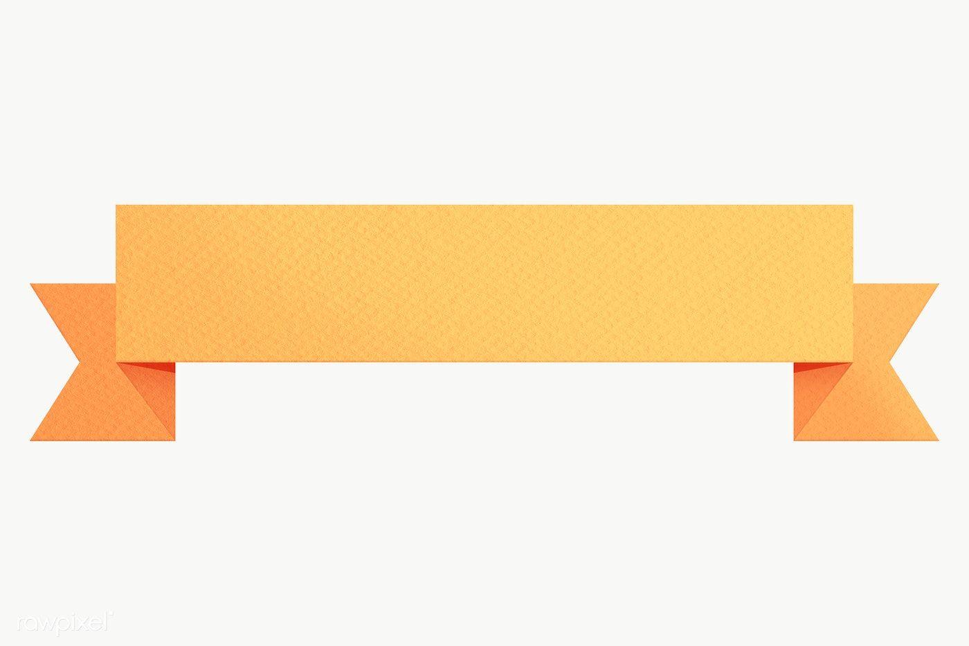 Marigold Yellow Ribbon Banner Design Element Free Image By Rawpixel Com Sasi Banner Design Ribbon Banner Creative Banners