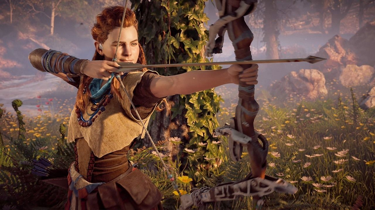 Horizon Zero Dawn Taking Down A Deadly Sawtooth 4k Watch As Aloy Is Confronted With Her B Horizon Zero Dawn Horizon Zero Dawn Wallpaper Horizon Zero Dawn Aloy