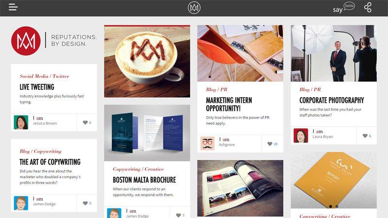 Pinterest Inspired Cards Based Web Design Layouts Web Layout Design Web Design Web Template Design