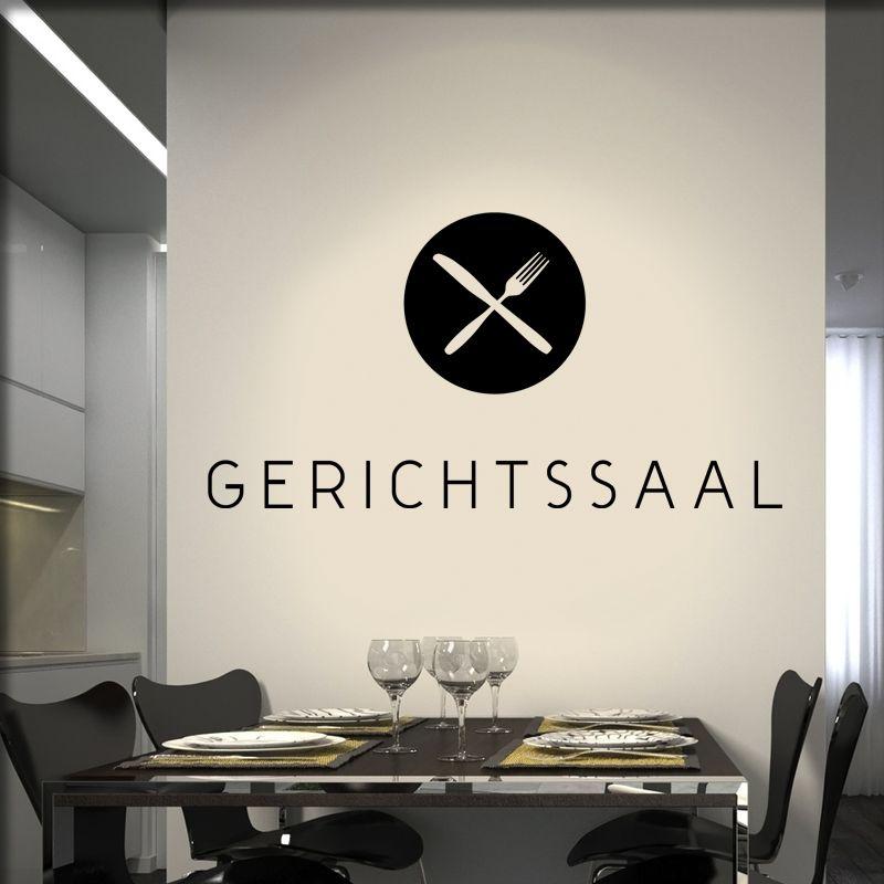 Wandtattoo Gerichtssaal Küche · Wandgestaltung KücheKüchen DesignKüche  EinrichtenTischdeko ...