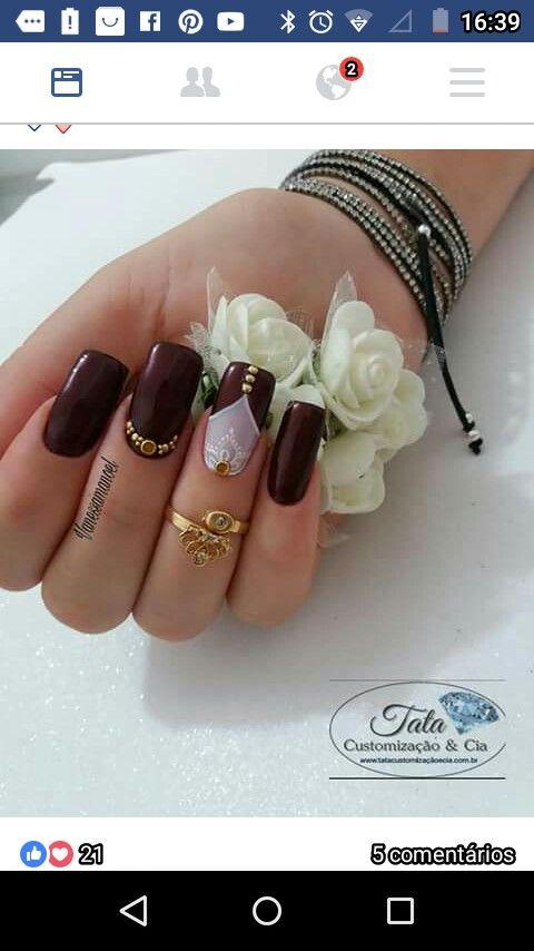 Pin by aibis herrera on uñas   Pinterest   Manicure, Beauty nails ...