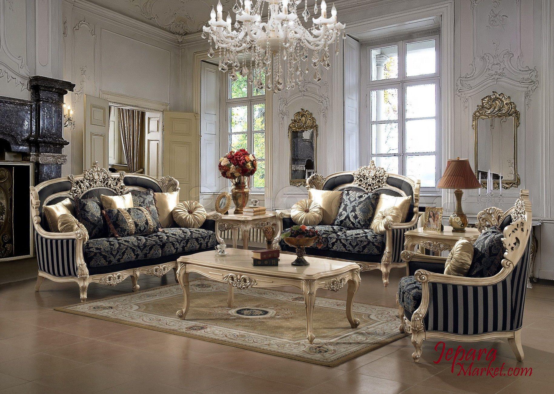 Sofa Tamu Mewah Italy Style Merupakan Kelas Unggulan Dengan Kualitas Terbaik Ruang Ini Terbuat Dari Kayu Mahoni Solid Yang Berkualitas Tinggi