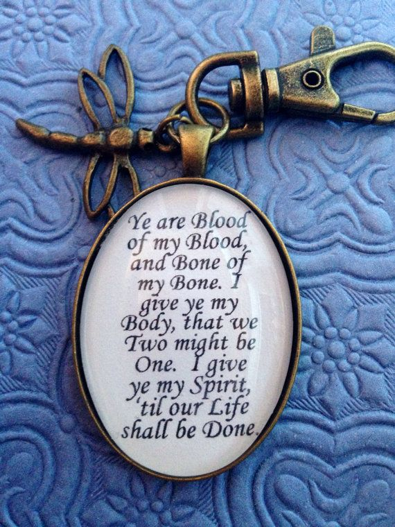 Outlander blood vow quote keychain outlander etsy and outlander outlander quote keychain by enchantedelement on etsy 899 valentines love fandeluxe Gallery