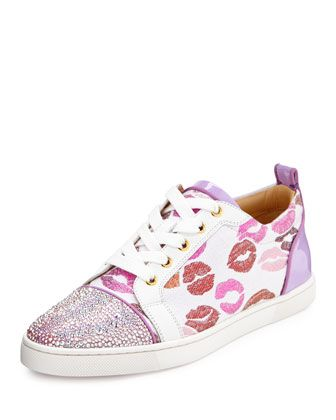 ae32889f9991 Gondolastrass Lip-Print Low-Top Sneaker