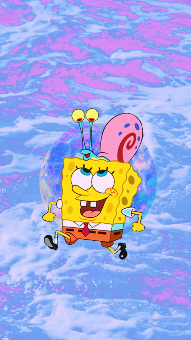 Spongebob Aesthetic Phone Wallpapers 3 in 2019 | wallpapers | Spongebob, Cartoon wallpaper ...