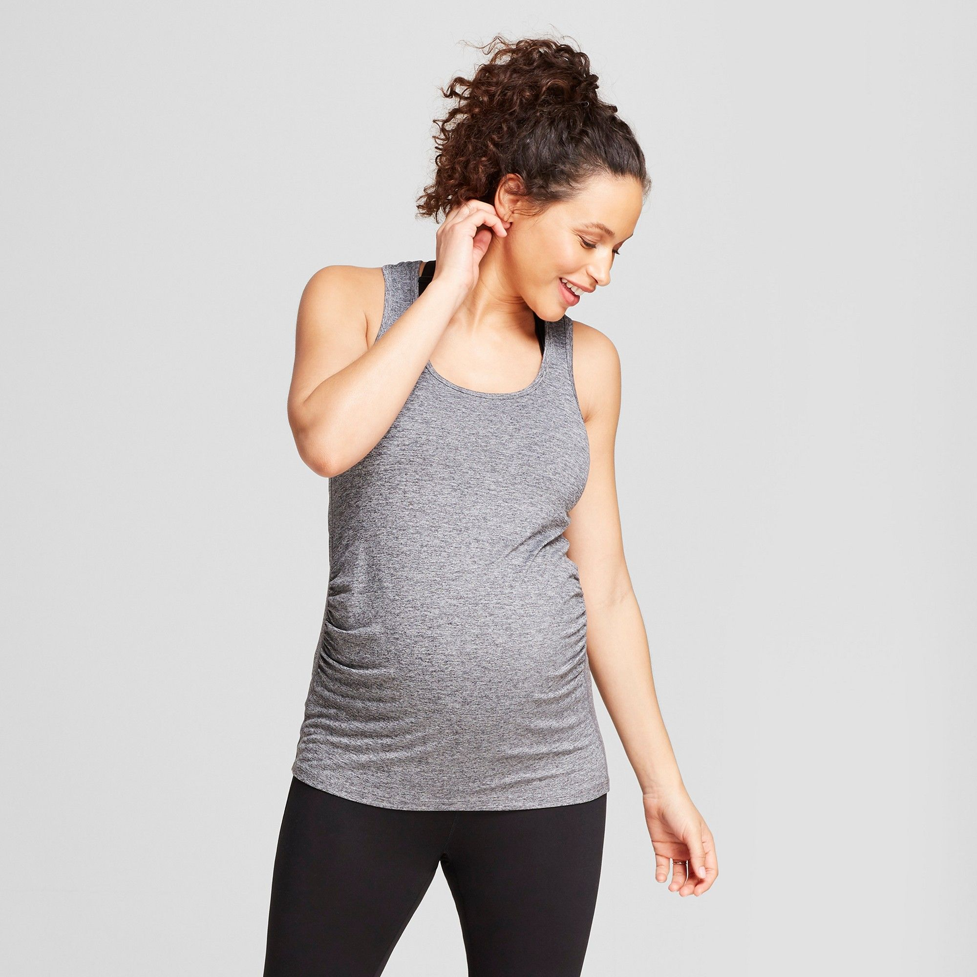 d7ec4ca2fbba10 Maternity Core Long Tank Top - C9 Champion Dark Heather Gray Xxl ...