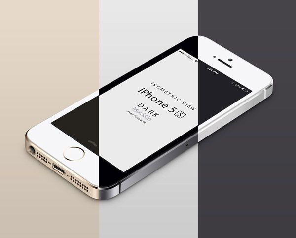 3d View Iphone 5s Psd Vector Mockup Iphone Mockup Psd Free Psd Mockups Templates Mockup Free Psd