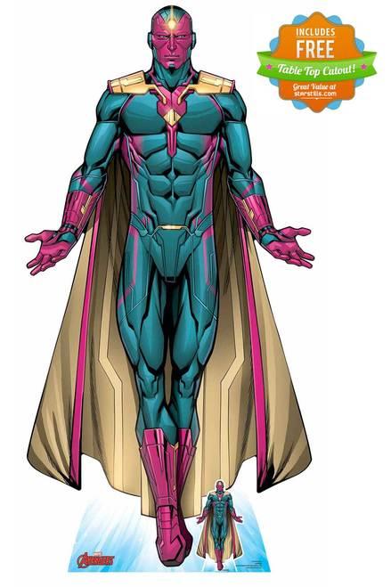 Vision Android Avenger Official Lifesize Marvel Cardboard Cutout Vision Marvel Comics Marvel Comics Art Marvel Vision