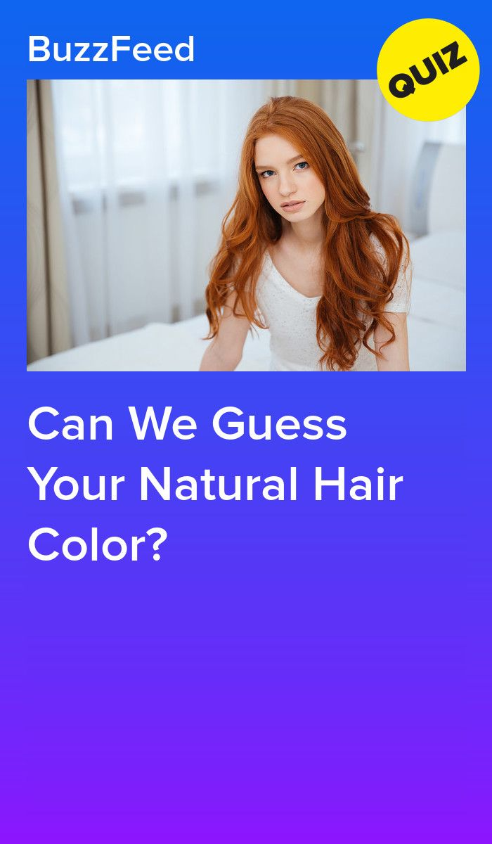 Can We Guess Your Natural Hair Color?