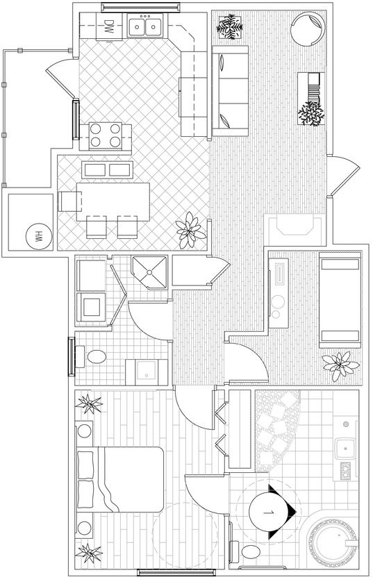 This Is The Floor Plan For A Barrier Free Project We Had To Make Everything Accessible To A Handica Bedroom Addition Plans Garage House Plans Free Floor Plans