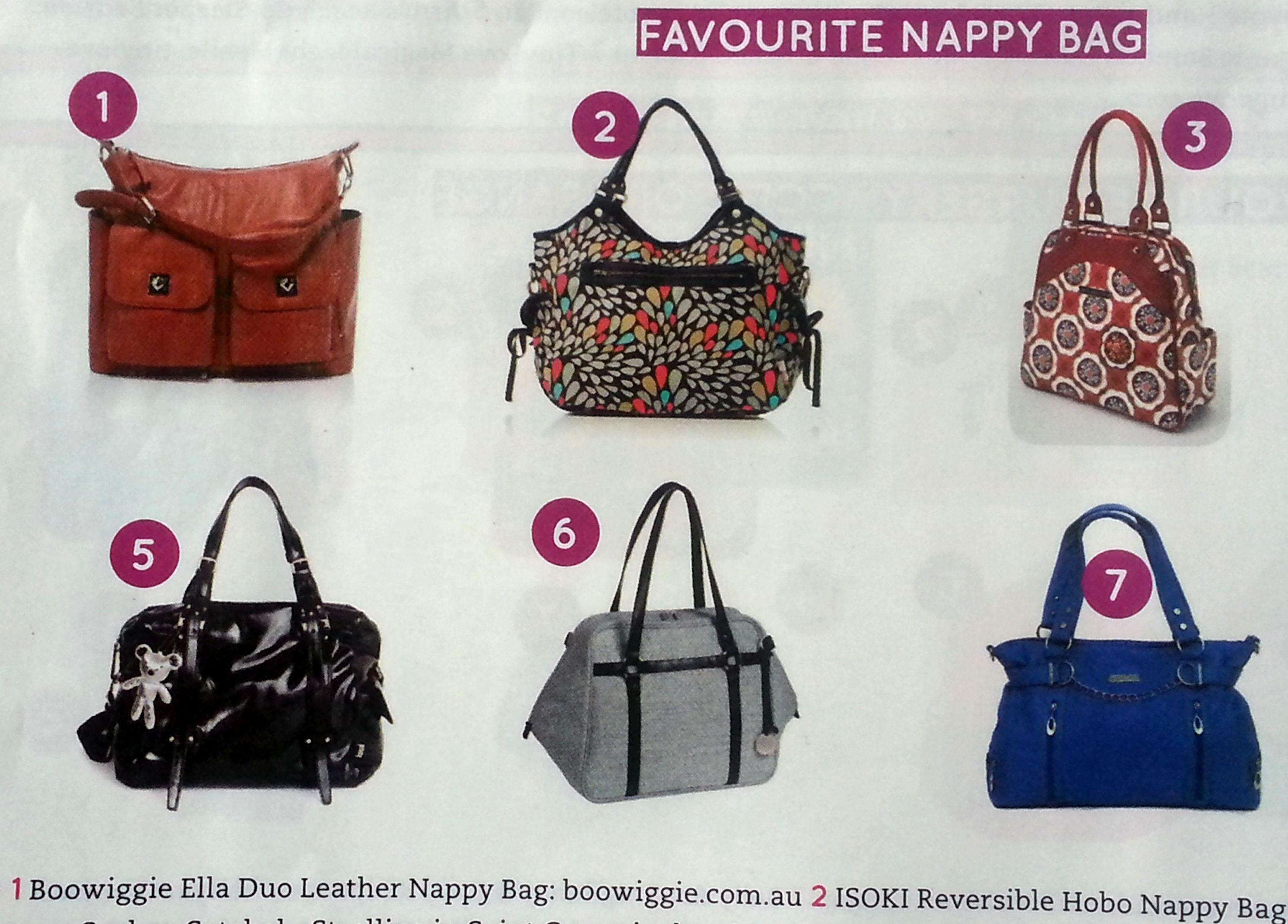"Ella Duo nappy diaper bag in tan featured My Child Magazine ""Favourite Nappy Bag"". #press #nappybag #diaperbag"