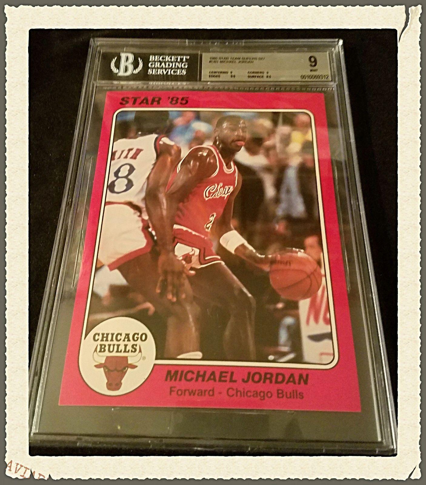 1985 star rc michael jordan rookie team supers card