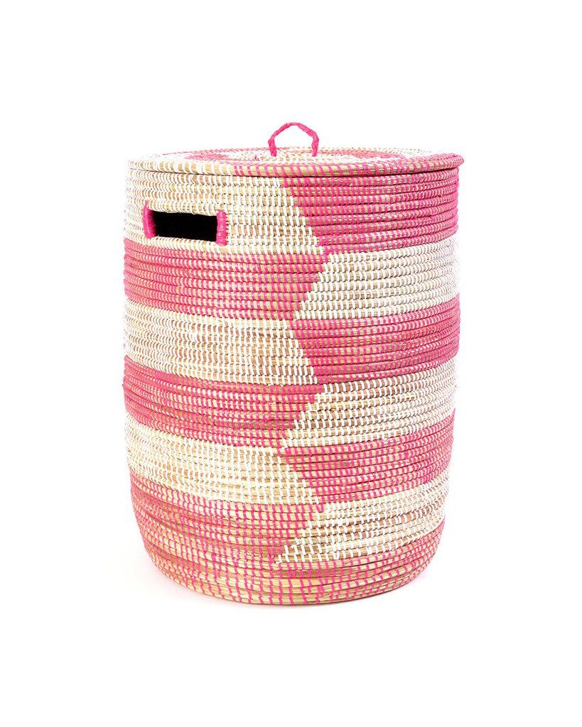 Pretty Laundry Baskets New Pink Woven Laundry Basket  Laundry Laundry Storage And Storage Baskets Decorating Design