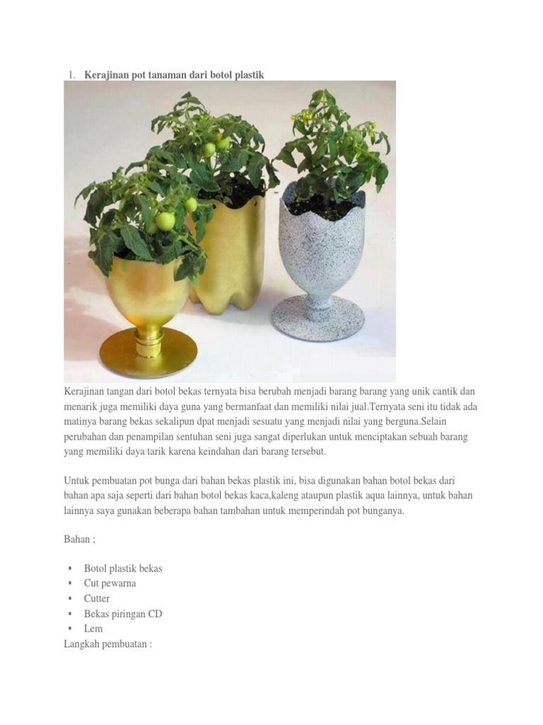 Foto Pot Bunga Dari Botol Plastik Pot Tanam Pot Bunga Bunga