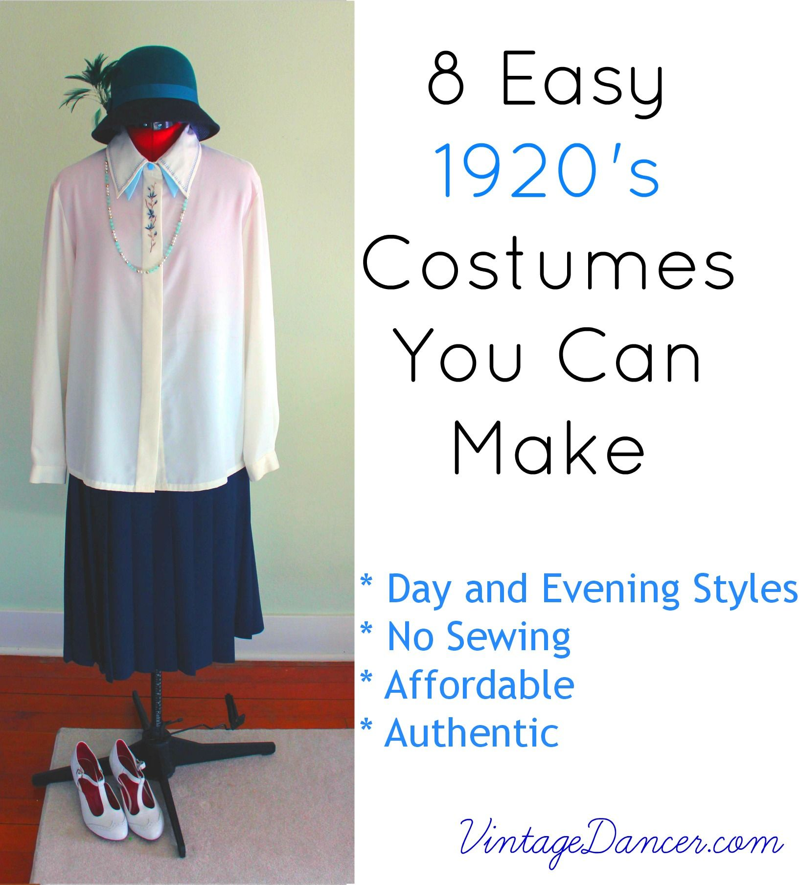 8 Easy 1920s Costumes You Can Make 1920s Costume 1920s Fashion Diy 1920s Fashion Women [ 1809 x 1635 Pixel ]
