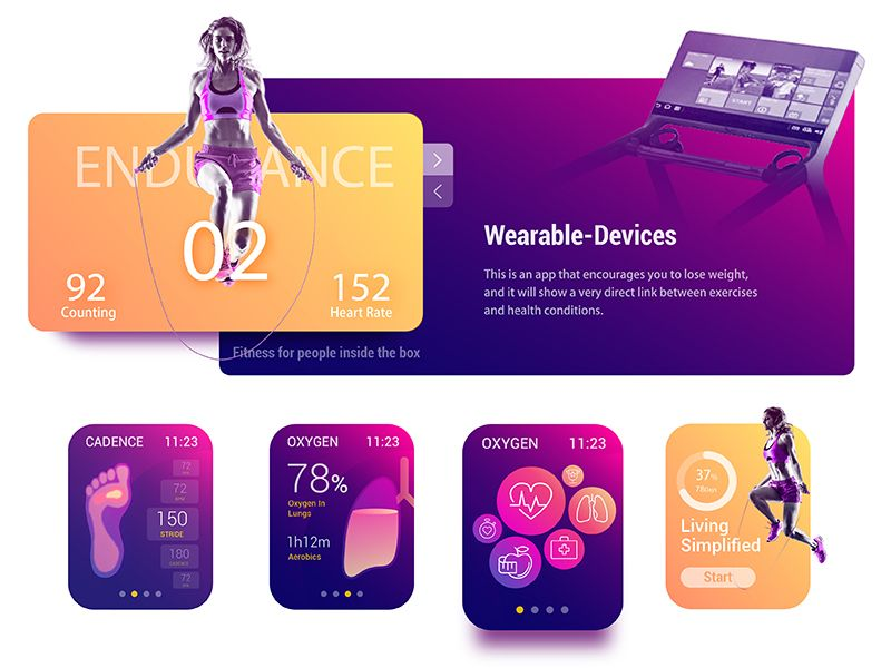 Ar Fitness Coach For Watch Wellness Design Fitness Coach App Banner