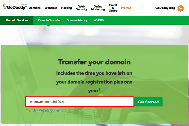 How To Transfer A Domain To Your Godaddy Account From Another Registrar Escrow Com Domain Privacy Godaddy Domain