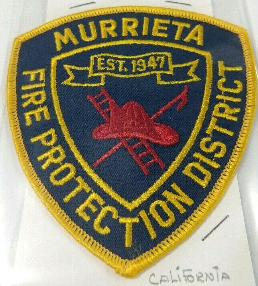 Murrieta California Fire Department Patch Protection