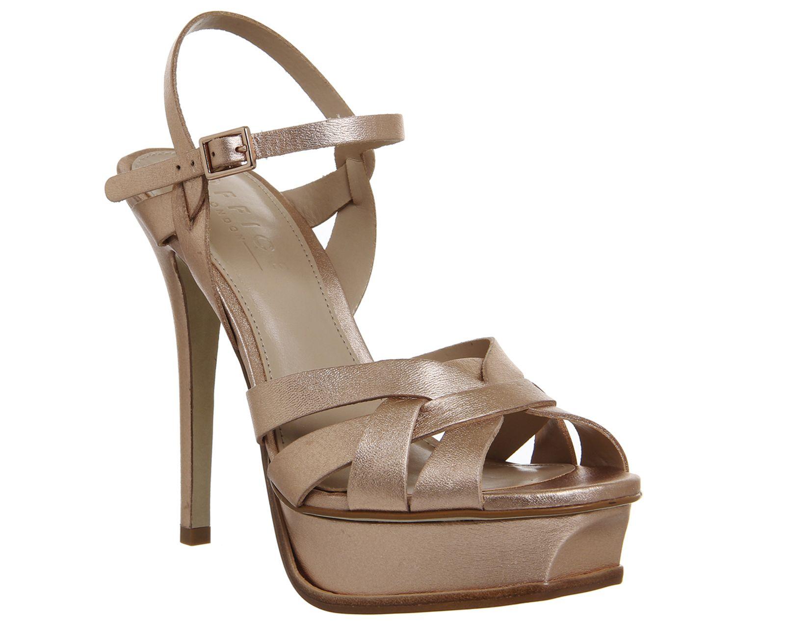 91841b18a8 Nostalgia Platform Heels Rose Gold Leather Leather High Heels, Gold  Leather, Office Shoes,