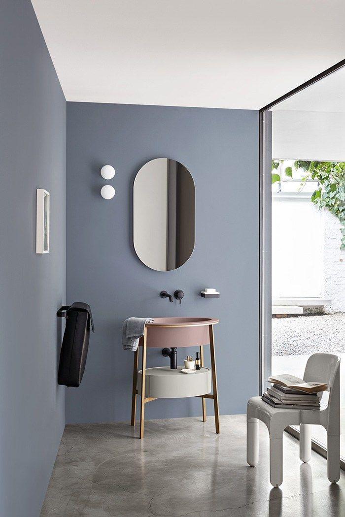 salle de bain mur bleu photos de conception de maison brafketcom - Salle De Bain Bleu Gris